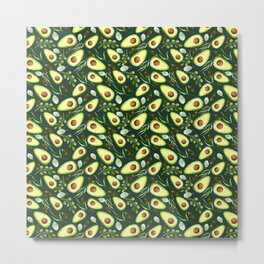 Watercolor Avocados | Fruit | Pattern Metal Print