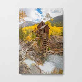 CRYSTAL MILL AUTUMN - COLORADO ROCKY MOUNTAIN - LANDSCAPE PHOTOGRAPHY PRINT Metal Print
