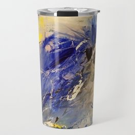 Blue and yellow Travel Mug
