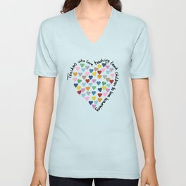 Hearts Heart Teacher Unisex V-Neck