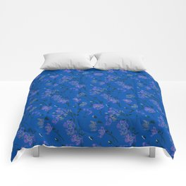 Poppy Floral - Blue Comforters