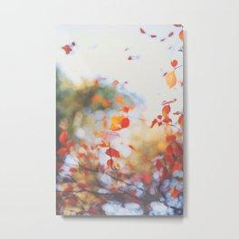 . Orange Leaves . Metal Print