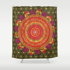 Ruby Baroque Mandala Shower Curtain