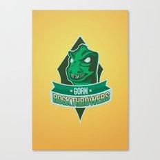 Gorn Rockthrowers Canvas Print