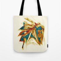 native american Tote Bags featuring Native American by Jo Tan