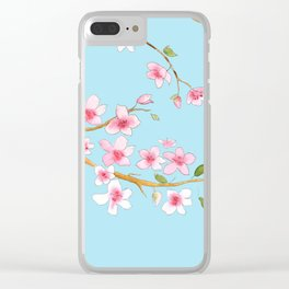 Cherry Blossom II Clear iPhone Case