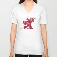 final fantasy V-neck T-shirts featuring FINAL FANTASY VI by DrakenStuff+