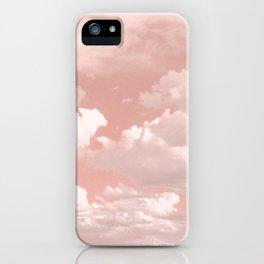 Clouds in a Peach Sky iPhone Case