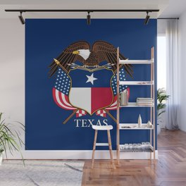 Texas flag and eagle crest concept Wall Mural