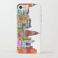 new york skyline iPhone & iPod Cases featuring new york city skyline by bri.buckley