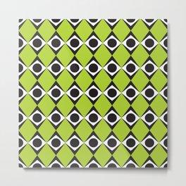 Geometric Pattern #80 (lime green diamonds) Metal Print