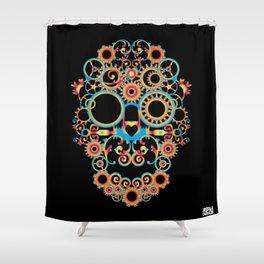 00 - STEAMPUNK BLACK Shower Curtain