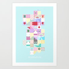 For Japan with love 4 Art Print