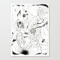 fairies Canvas Prints featuring Fairies by Miskelle