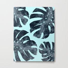 Watercolor palm leaves II Metal Print