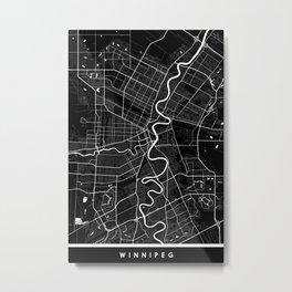 Winnipeg - Minimalist City Map Metal Print