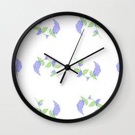 Lilac pattern Wall Clock