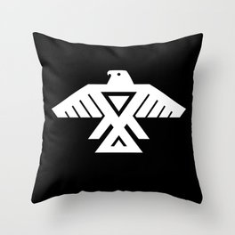 Thunderbird flag - HQ file Inverse Throw Pillow