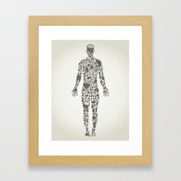Parts body the person Framed Art Print