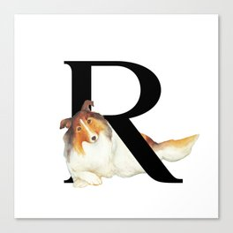 Dog Monogram Collection R Canvas Print