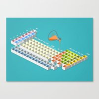 periodic table Canvas Prints featuring periodic table by anil yanik