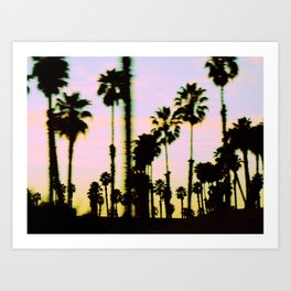 California Dreaming Palm Trees Sunset Art Print