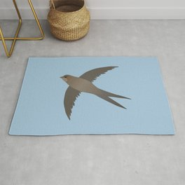 Common swift flying in the air vector Rug