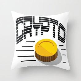 CRYPTO COIN Throw Pillow