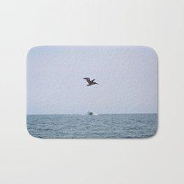 Pelican in Flight Bath Mat