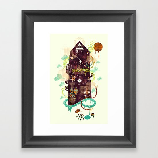 The Ominous and Ghastly Mont Noir Framed Art Print