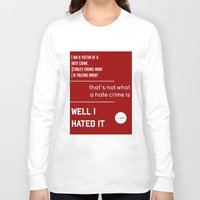 michael scott Long Sleeve T-shirts featuring Michael Scott on Hate Crimes (The Office) by thebuccanear