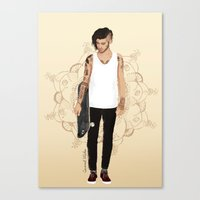 coconutwishes Canvas Prints featuring Skater Zayn  by Coconut Wishes
