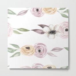 Floral pattern painting watercolor Metal Print