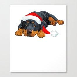 Rottweiler Christmas Shirt Canvas Print
