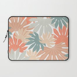 Fall tropical leaves Laptop Sleeve
