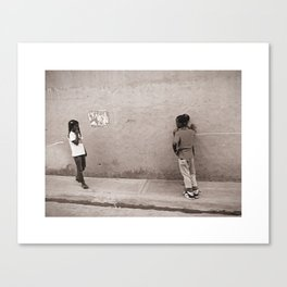 Children in Las Galeras Canvas Print
