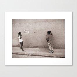 Children in Las Galeras Canvas Print