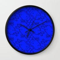 bunnies Wall Clocks featuring Bunnies by Michael Goodson