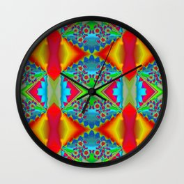 Flowers Colours QR Wall Clock