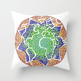 """The earth is but one country"" Throw Pillow"