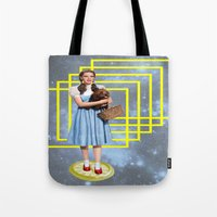 thrones Tote Bags featuring Yellow brick road by Laura Nadeszhda