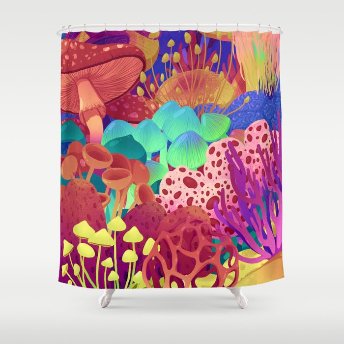 Shrooms Shower Curtain