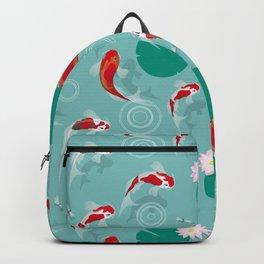 Koi swim in the clear water Backpack
