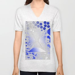 Digitize (White Background) Unisex V-Neck