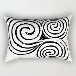 Newgrange Celtic Triskelion Rectangular Pillow