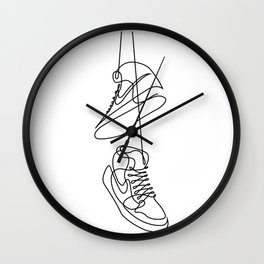 Sneakers art,Casual Shoes,Hipster Prints, Wall Art,Large Poster Decor,shoe art ,Black White Wall Clock