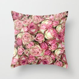 Your Pink Roses Throw Pillow