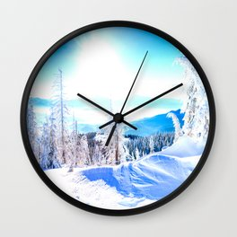 White Nautre Wall Clock