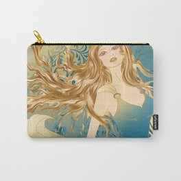 Golden Teal Woman Carry-All Pouch