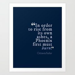 In Order to Rise Art Print